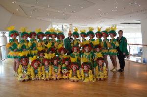 Tanzgruppe mit Trainerin 2020